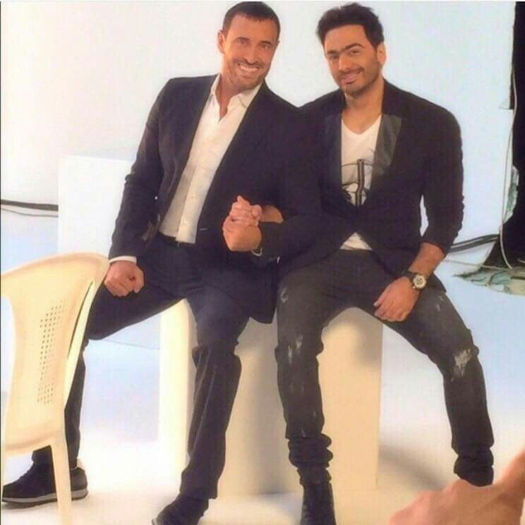 Tamer Hosny And Kazemi In The Voice Kids Pantsuit Fashion Arab Celebrities