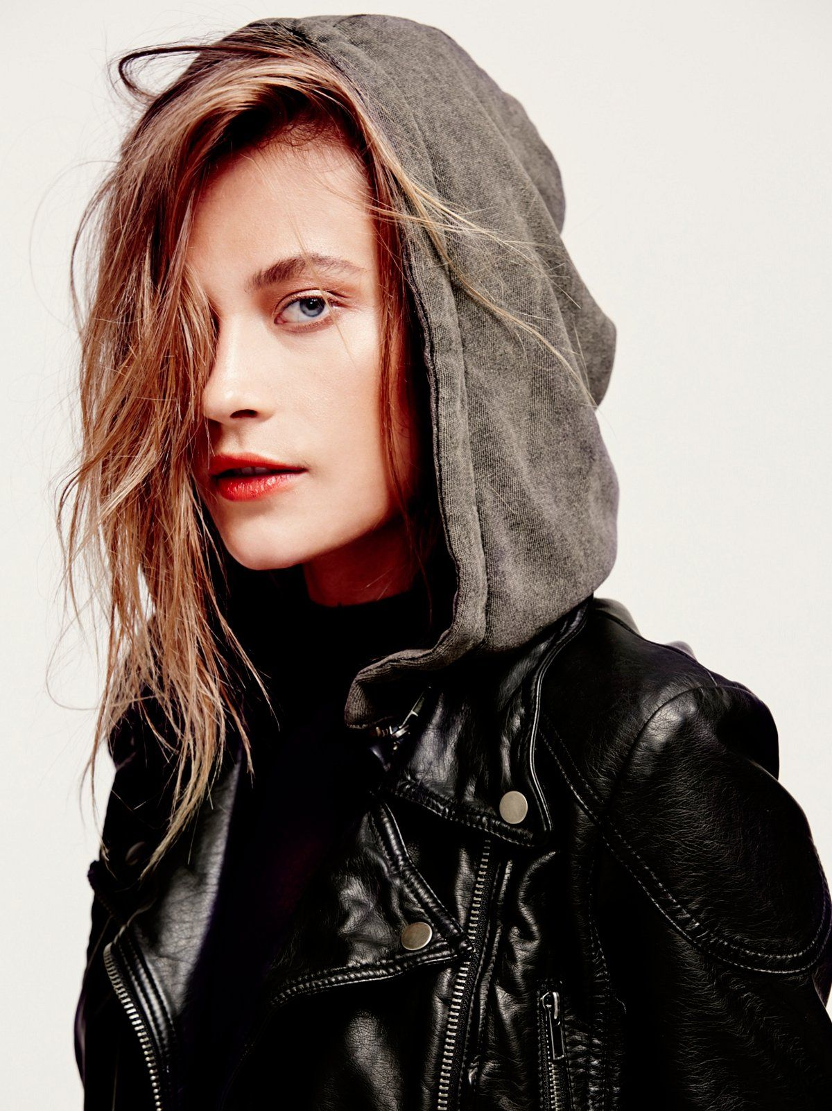 Vegan Leather Hooded Jacket at Free People Clothing Boutique