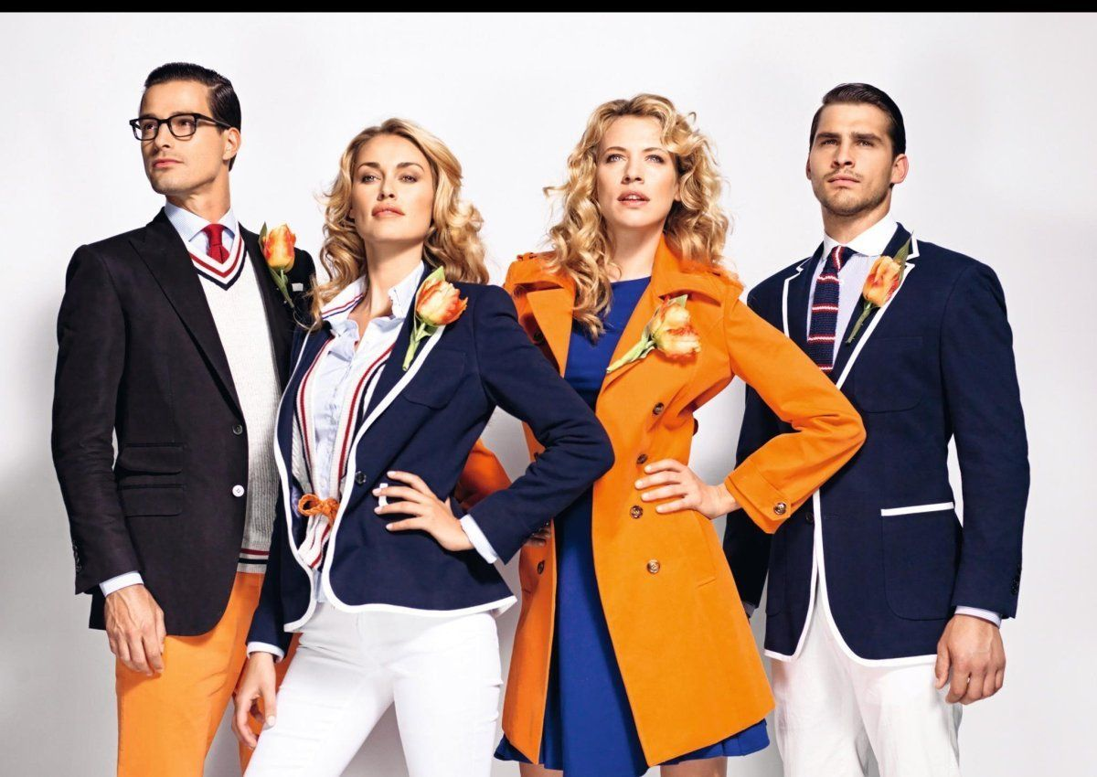 Preppy Orange and Blue for the Olympics  4850357294b84