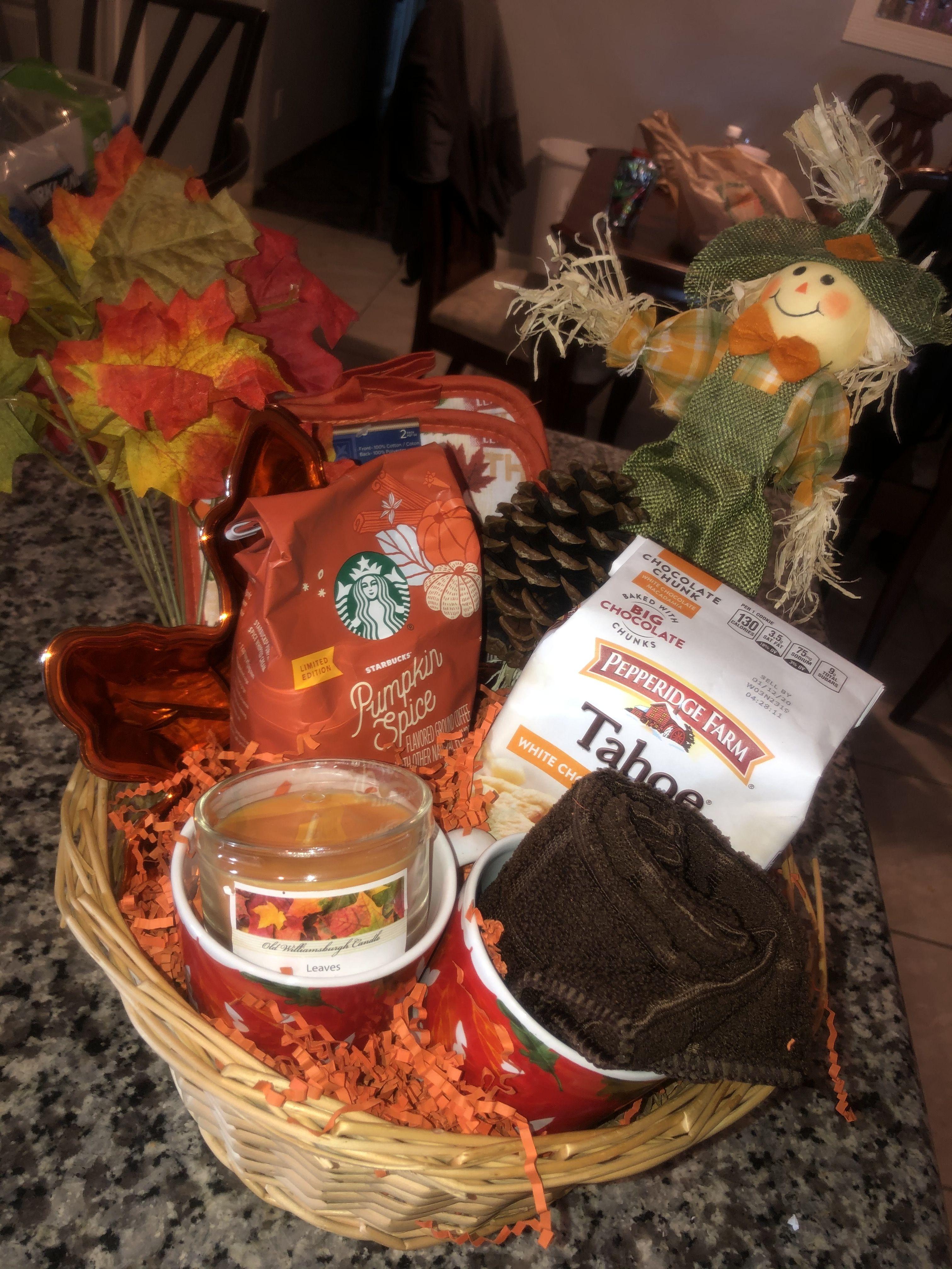 Diy autumn gift basket fall gift baskets pepperidge