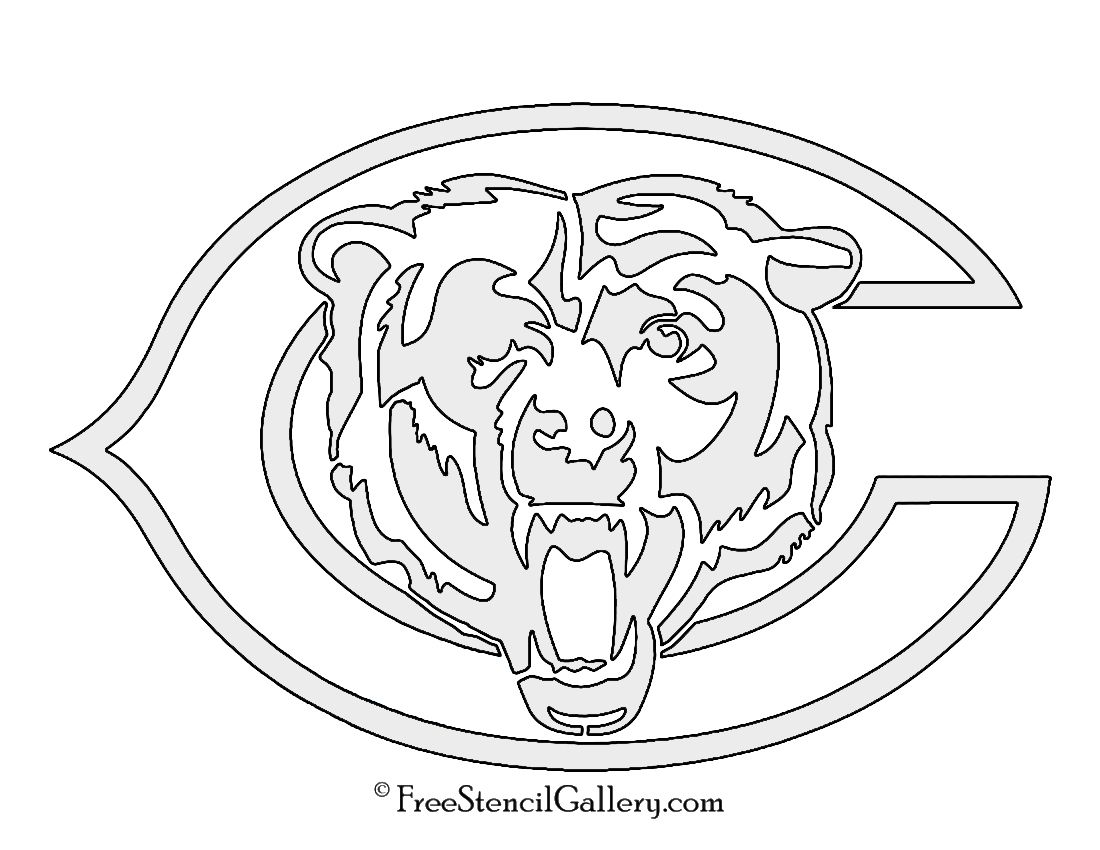 Nfl Chicago Bears Stencil Bear Coloring Pages