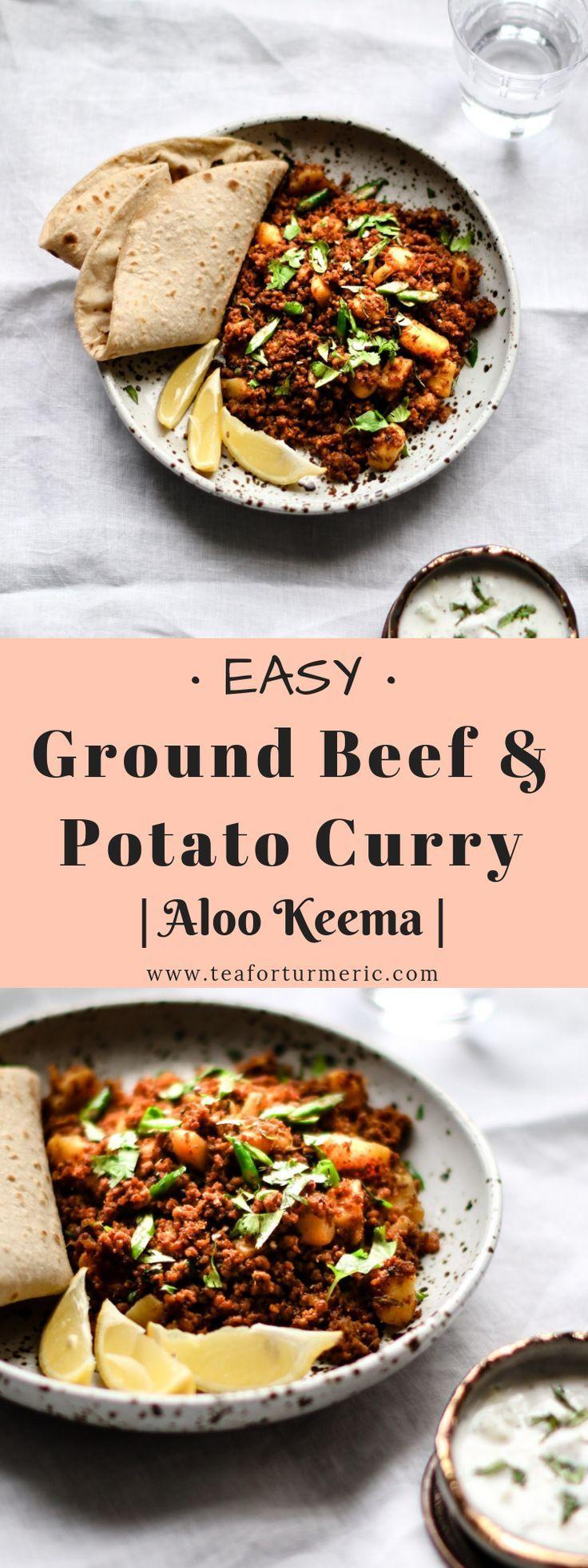 Pakistani Aloo Keema Ground Beef And Potato Curry Recipe Potato Curry Ground Beef And Potatoes Beef And Potatoes
