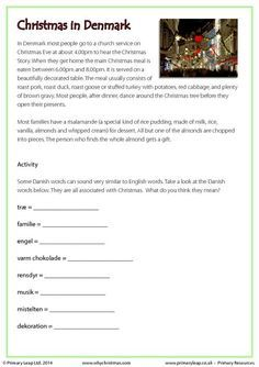 PrimaryLeap.co.uk - Reading comprehension - Christmas in Denmark ...