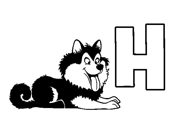 Dibujo del Abecedario - Letra H para colorear | dibujos.net | Pinterest