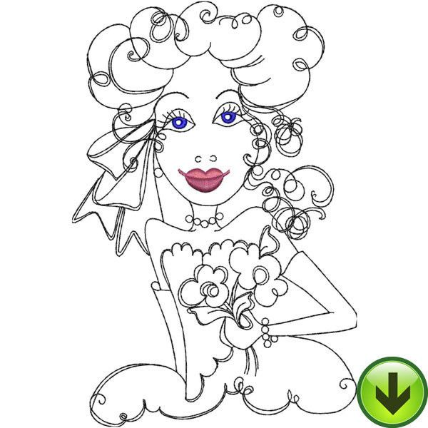 Daisy Lady Embroidery Design | Download