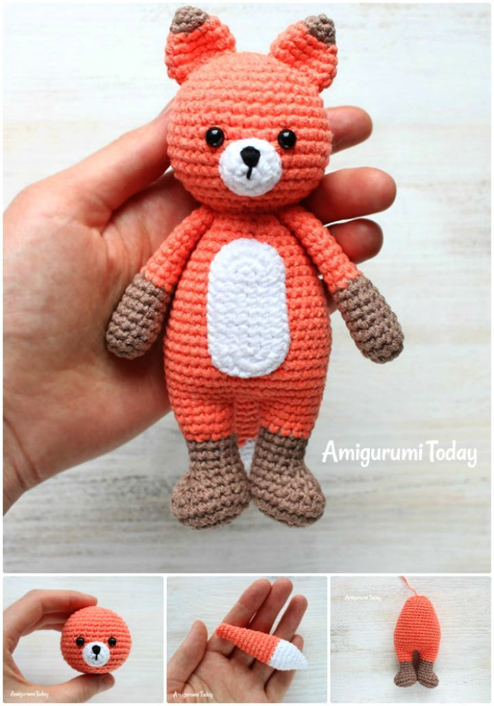 50 Free Crochet Fox Patterns - Crochet Fox Hat | Pinterest ...
