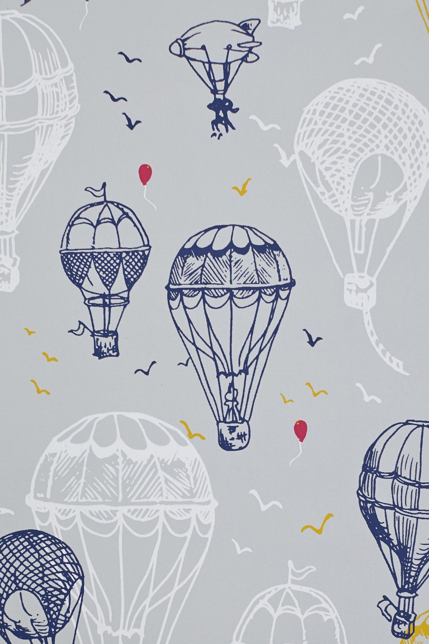 34e7731979c6a ANTHROPOLOGIE | Hot Air Balloons Wallpaper | Interior / Walls in ...