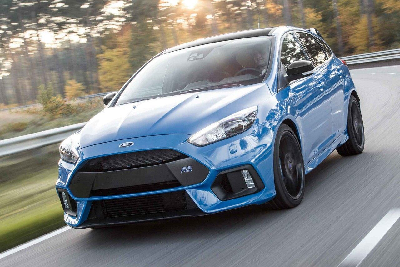 The 2018 Limited Edition Focus Rs In Nitrous Blue Quad Coat Ford Focus Performance Cars Ford