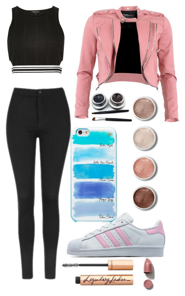 """Untitled #119"" by galaxykatkat ❤ liked on Polyvore featuring FRACOMINA, Topshop, adidas Originals, River Island, Terre Mère, Kate Spade and Charlotte Tilbury"