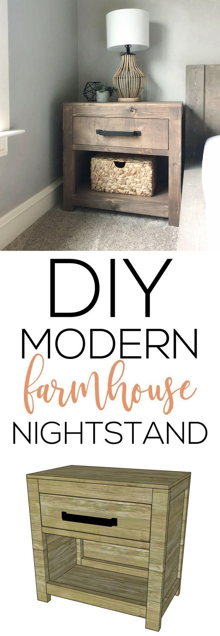 Diy modern farmhouse nightstand diy nightstand diy
