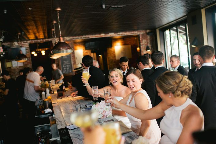 Jerrys Bar Philadelphia Wedding Party Happy Hour Bride And Groom