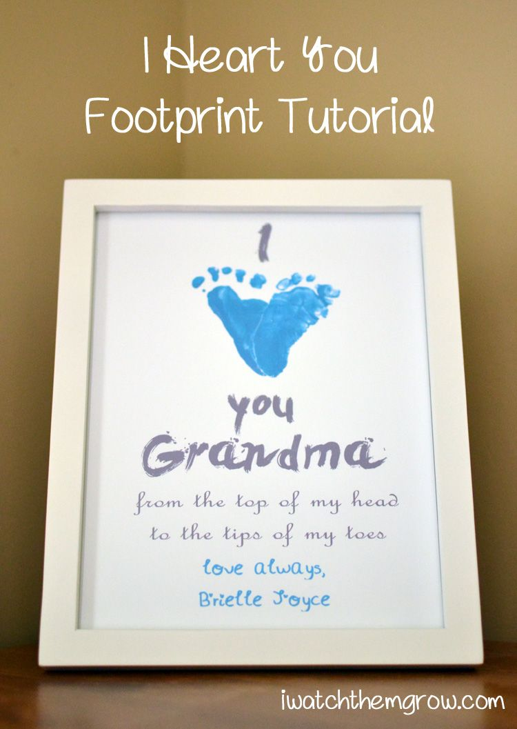 i heart you footprint tutorial oma und opa omas und. Black Bedroom Furniture Sets. Home Design Ideas