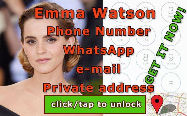 Emma Watson Correo Electronico Emma Watson Age