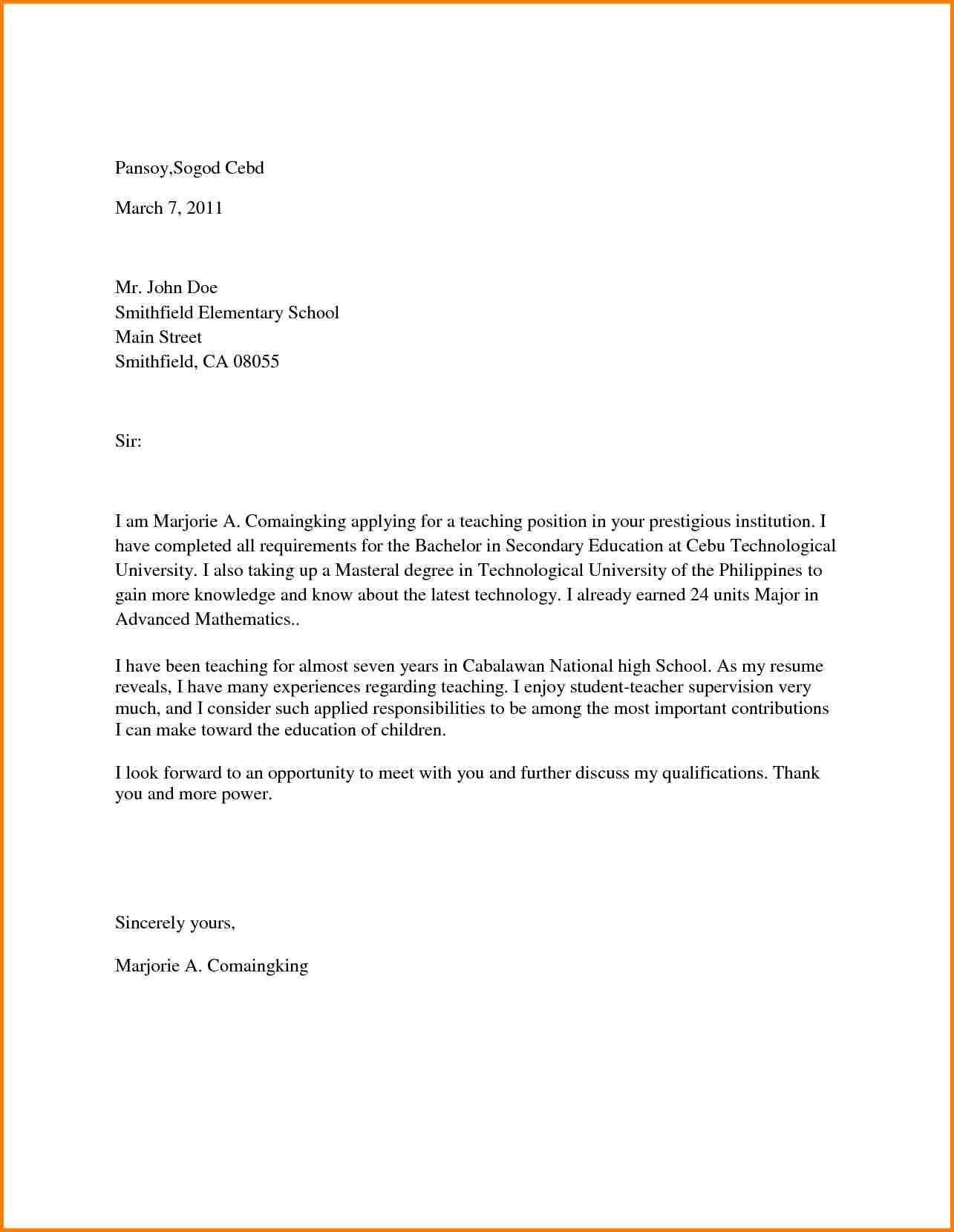 Teacher Cover Letter Elementary Easy Tips To Follow Cover