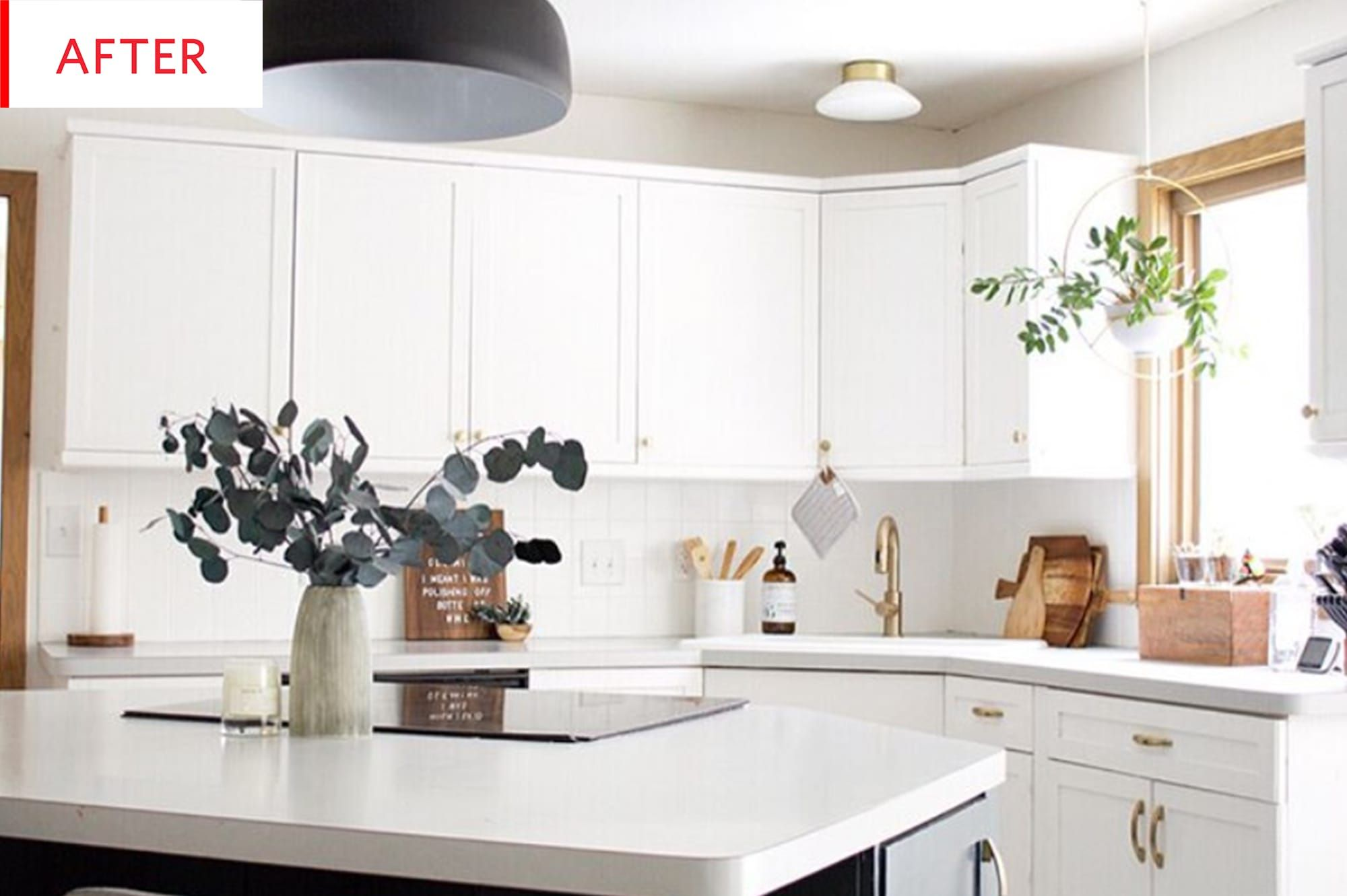 Before And After This Kitchen Has A Budget Solution For Dated Cabinet Doors Kitchen Remodel Kitchen Cabinets Before And After Budget Kitchen Remodel