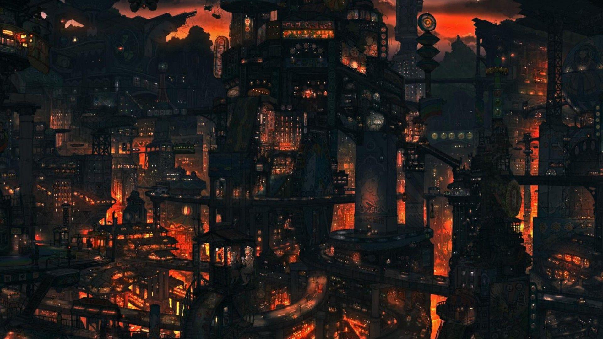 Dark Anime Scenery Wallpaper Background 1 Anime Scenery