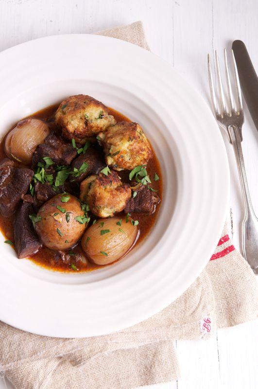 Boeuf Bourguignon with Baguette Dumplings via Rachel Khoo {The ...