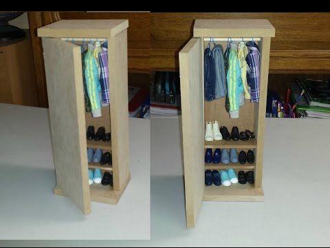 Tutorial Miniature Closet Wardrobe Diy Barbie Furniture Cardboard Wardrobe Barbie Furniture