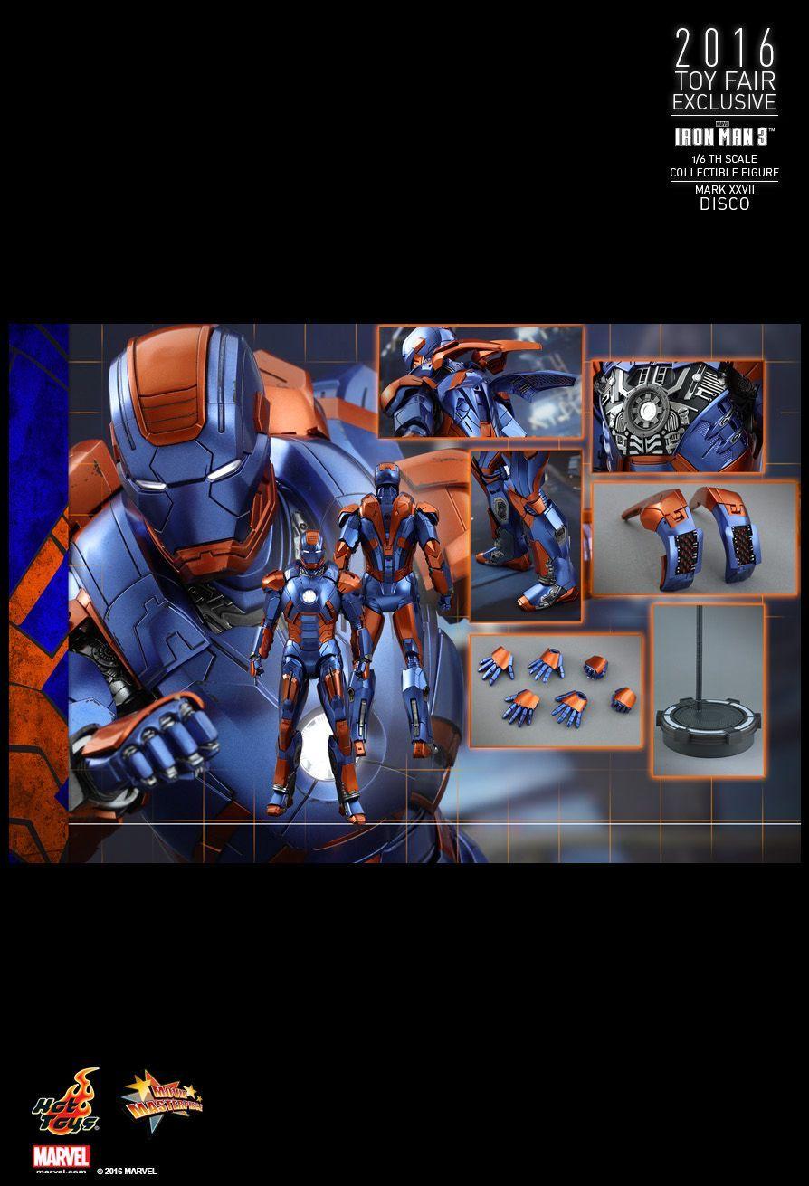 Hot Toys Iron Man 3 Disco Mark Xxvii 1 6th Scale Collectible Figure Hot Toys Iron Man Iron Man 3