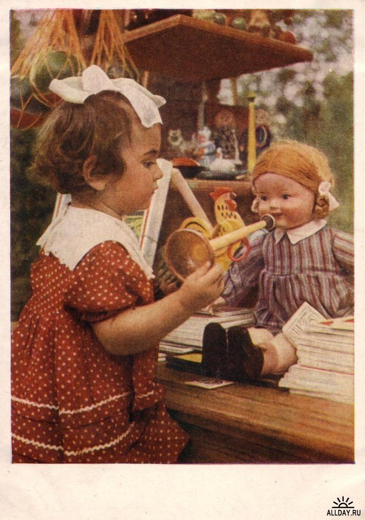 Новогодние, советские открытки с детьми и игрушками