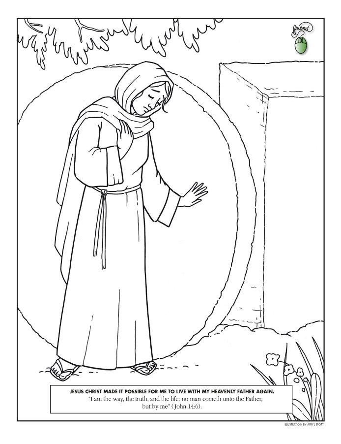 Easter Coloring Page Lds Lesson Ideas Easter Coloring Pages Lds Coloring Pages Jesus Coloring Pages