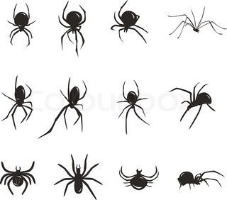 Vector Of Cartoon Scary Shadow Spider Tattoo Web Tattoo Spider Web Tattoo