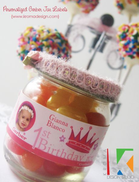 printable gerber jar labels great diy project for first birthday