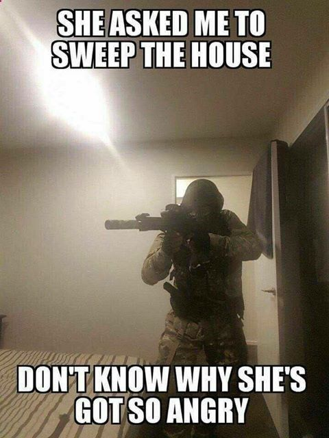 She asked me to sweep the house... Know your gun. Know the law. Know your lawyer. Check out your legal defense for self defense at USLawShield.com.
