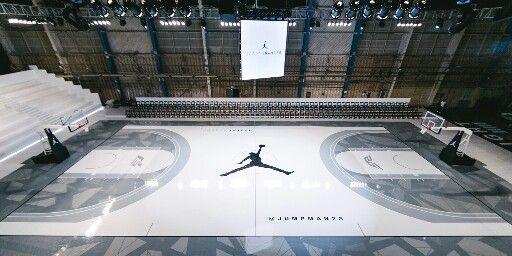 Jordan Hangar Court Los Angeles Indoor Basketball Court Home Basketball Court Basketball Court Backyard