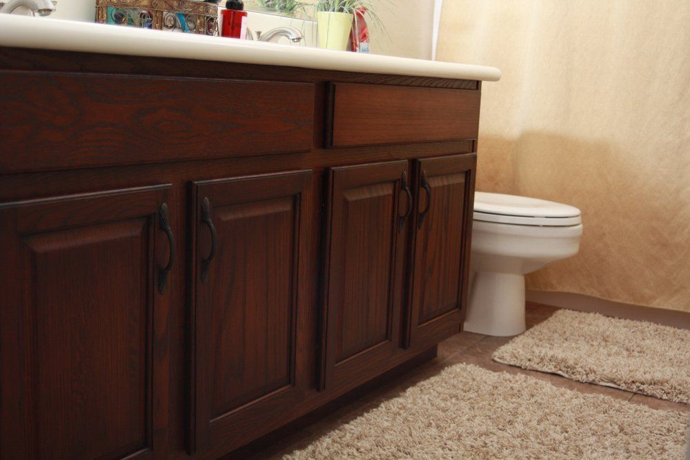 Cabinet refinishing; light oak to dark stain (With images ...