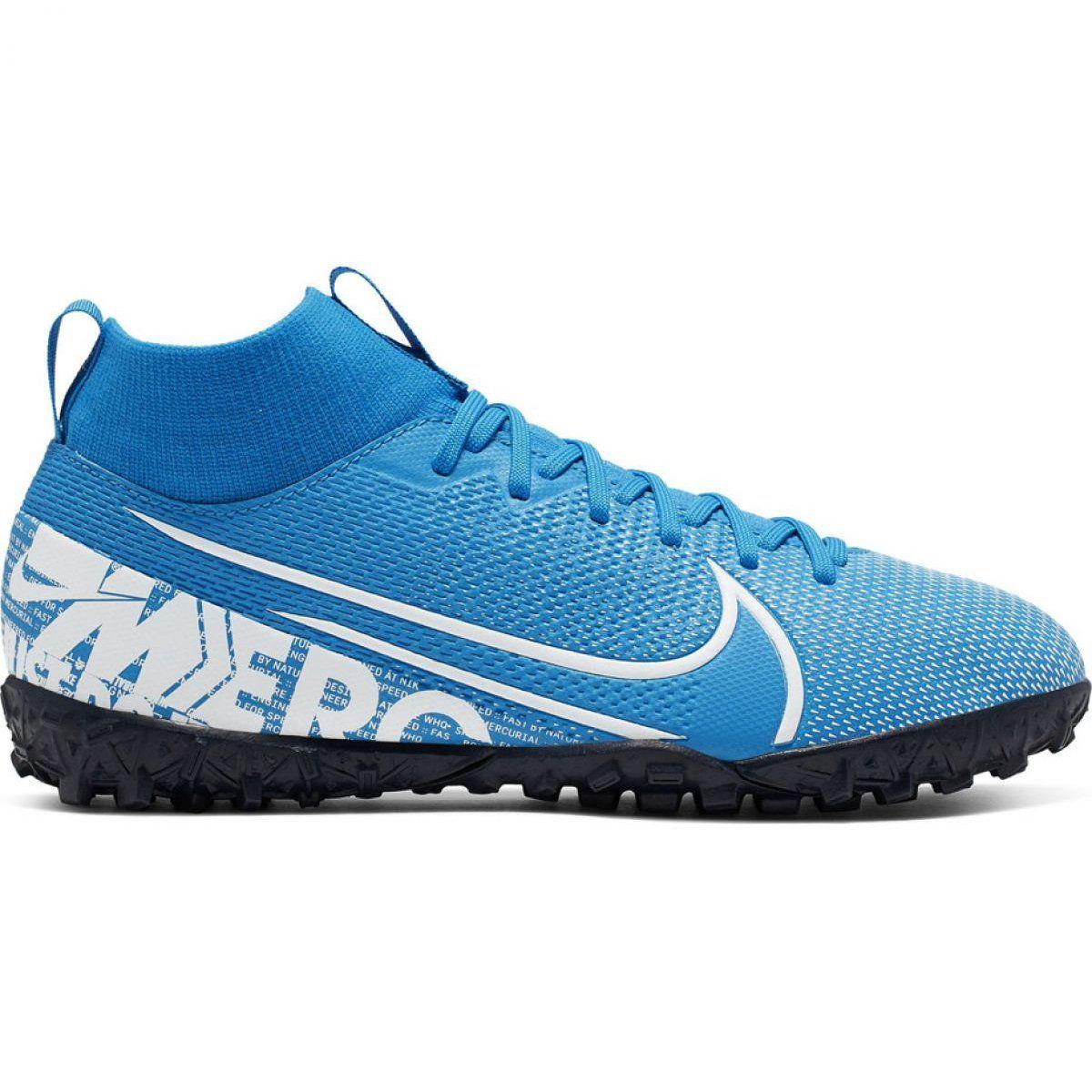 Buty Pilkarskie Nike Mercurial Superfly 7 Academy Tf Jr At8143 414 Niebieskie Wielokolorowe Kids Football Boots Football Shoes Superfly