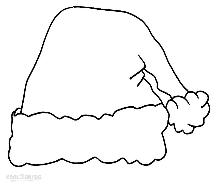 Santa Hat Coloring Pages With Images Santa Hat Pattern