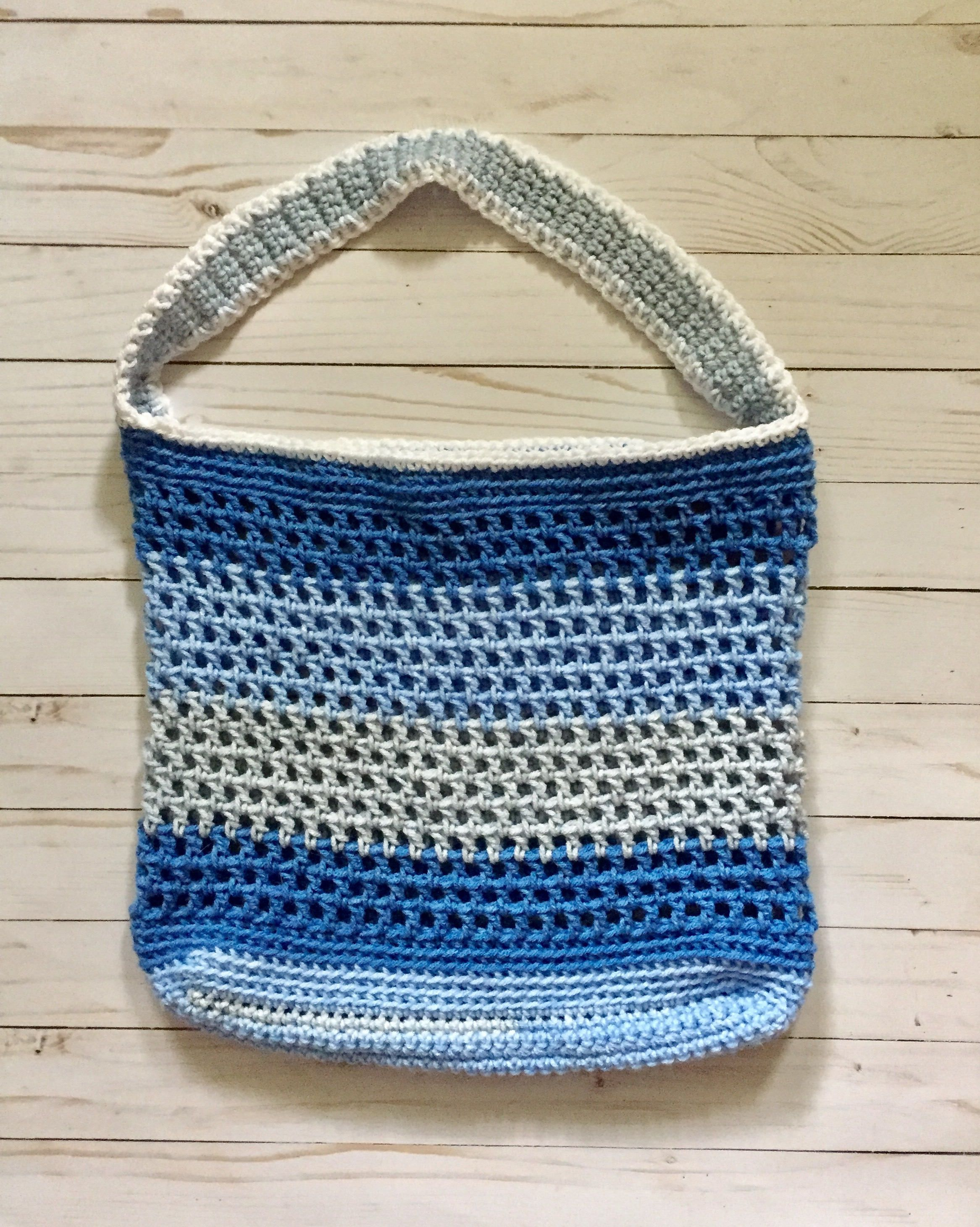 Colorblock Tote Bag, crochet tote bag, crochet market bag, crochet beach bag, crochet tote, crochet purse, crochet bag by StitchesBySullivan on Etsy