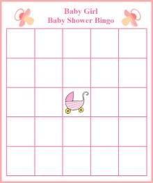 Free Printable Blank Bingo Cards For Baby Shower : printable, blank, bingo, cards, shower, Printable, Shower, Games, Girls., Bingo,, Games,, Printables