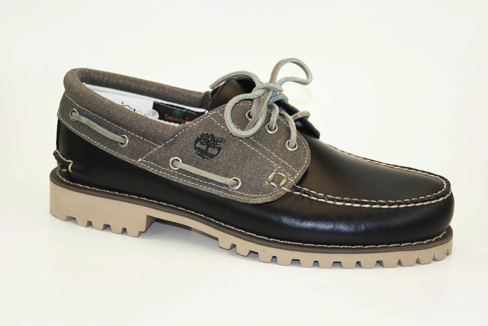 892ce0a8f78 Timberland Authentics Classic 3 Eye Lug Boat Shoes Lace Up Moccasins a13v2   Timberland  LaceUp