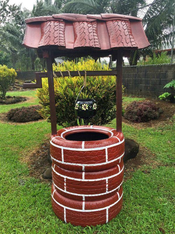 goodideasforyou \u2026 Pinteres\u2026 - jardines con llantas