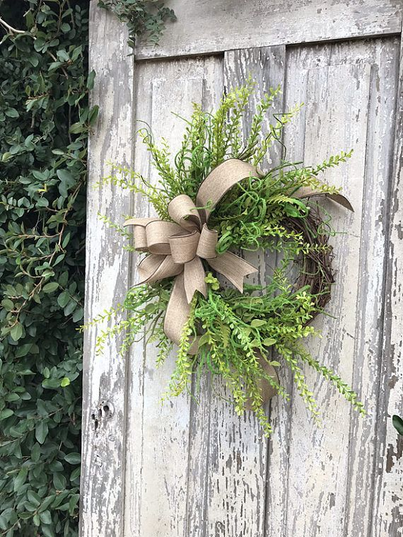 Front Door Wreath, Year Round Wreath,Double Door Wreath, Green Wreath,  Everyday