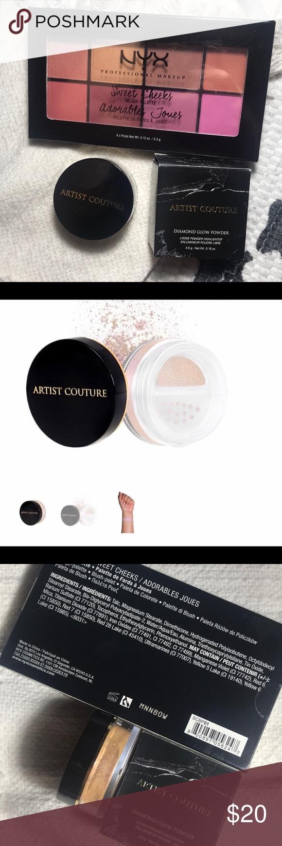Artist Couture Diamond Glow Powder & NYX Palette NWT