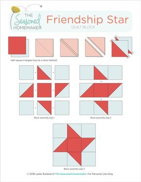How to Make a Perfect Friendship Star Quilt Block - The Seasoned Homemaker
