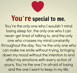 So Very Specialto Me Thoughts Love Quotes Romantic
