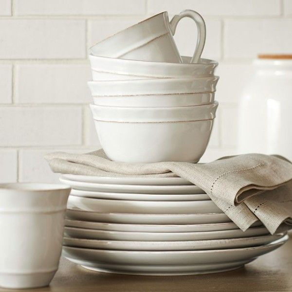 Handmade by Portugal Artisans we know that our Cambria Dinnerware is a wedding gift you can be proud to give. & Cambria 16-Piece Dinnerware Set - Stone | Dinnerware Artisan and ...