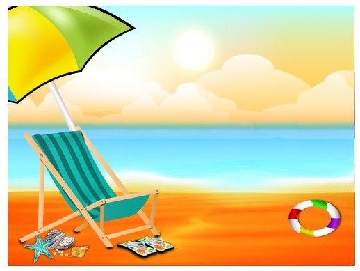 Beautiful Summer Beach Background 05 Vector Beach Background Summer Backgrounds Beautiful Summer