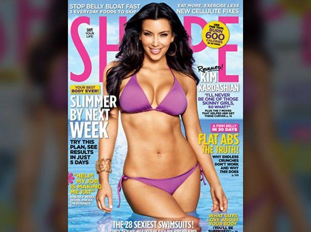 Kim kardashian shape magazine