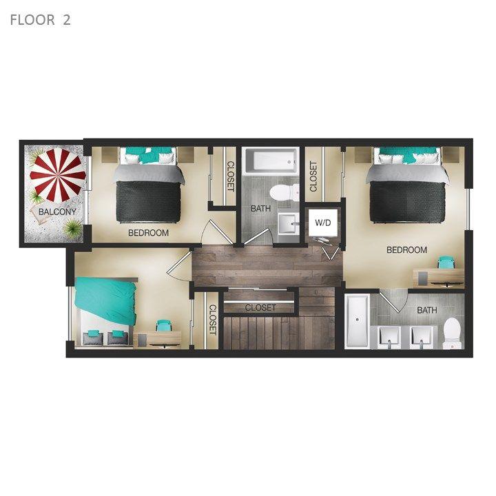 Floor Plans Of The Hendrix In Edmonton Ab Hotel Floor Plan Hotel Plan Hotel Floor