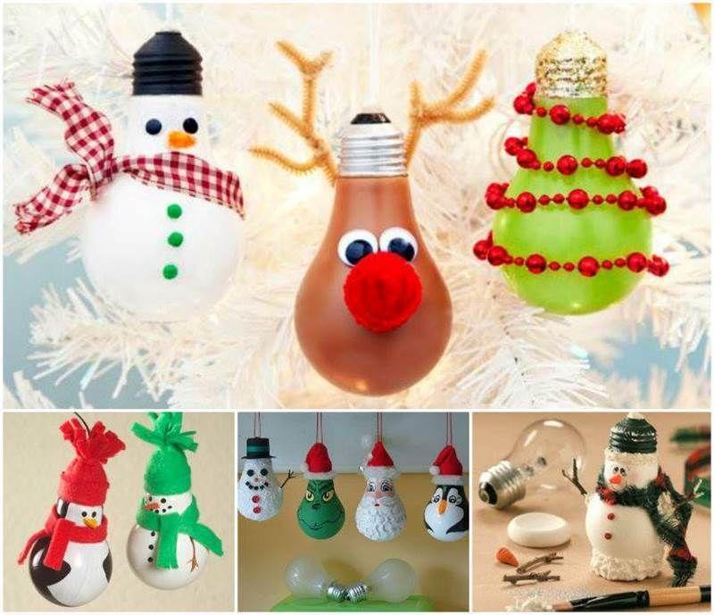 Christmas Decor Ideas Diy Part - 49: Creative Ideas - DIY Light Bulb Christmas Ornaments