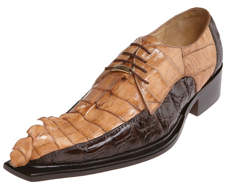 Belvedere Zeno Brown Camel All Over Hornback Crocodile With Tail Shoes 3400 Click Image To Close