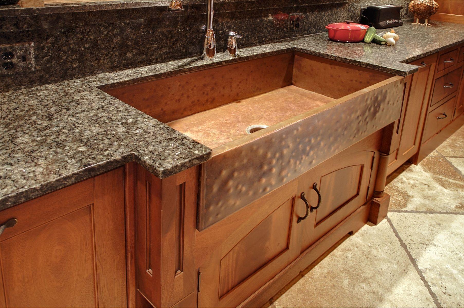 Mcnabb Farm Style Copper Sink CustomMade By Darin Fetter Copper Farm Style  Sink. Features: