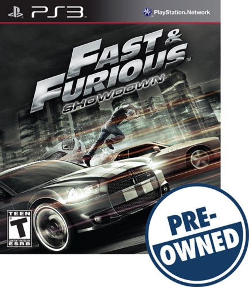 Fast furious showdown preowned playstation 3