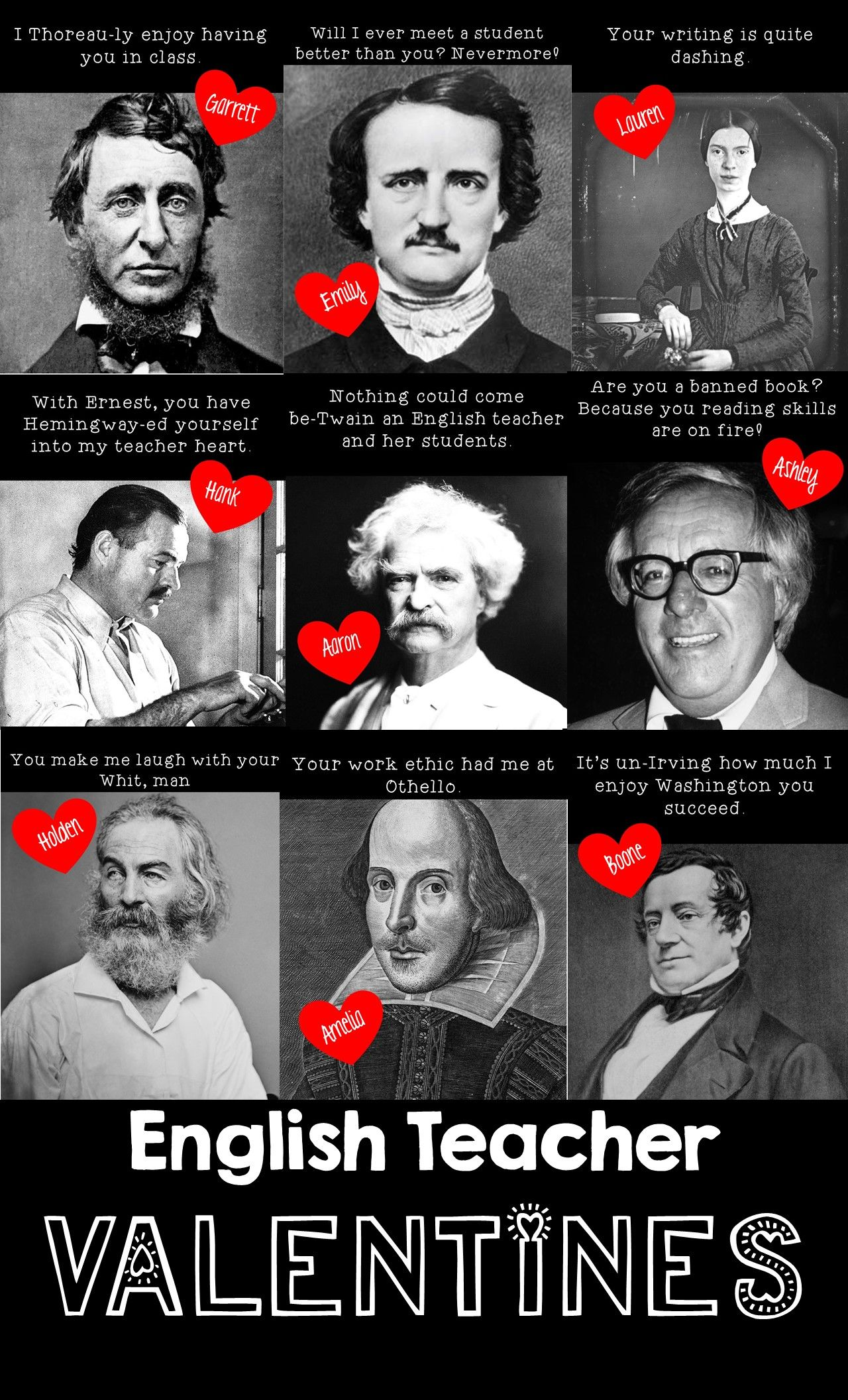 000 Literary Valentines Plus a Valentine's Day Activity for