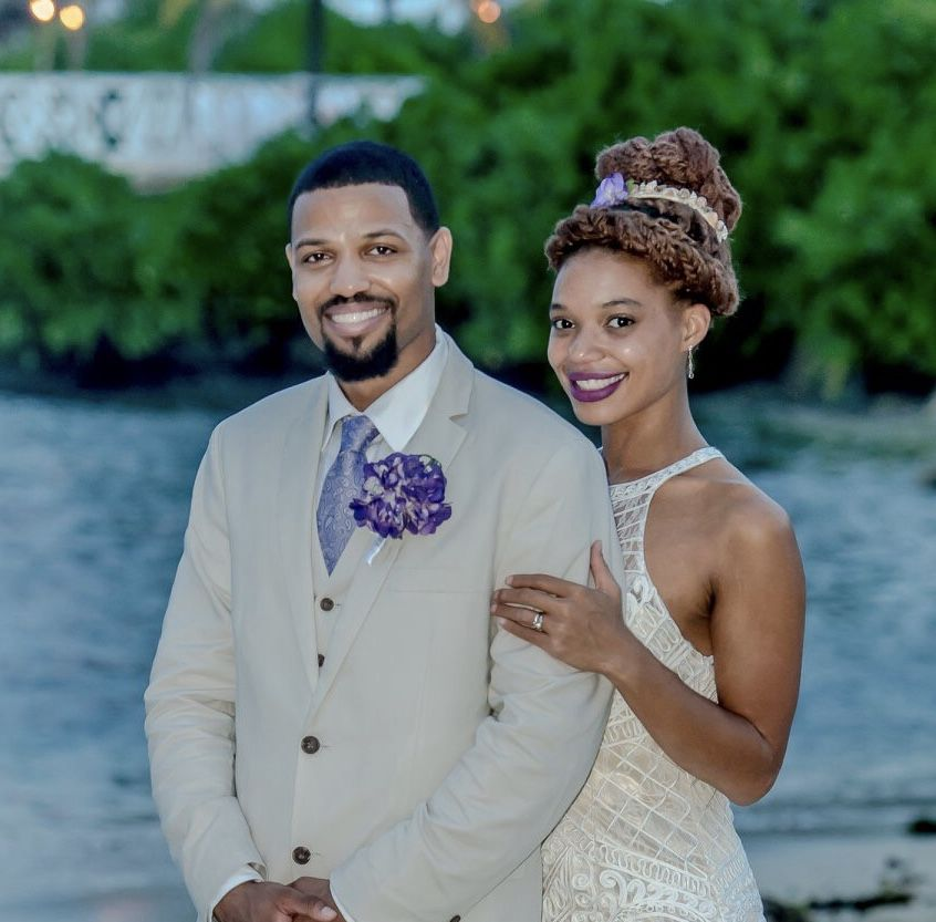 Wedding Hairstyles In Jamaica: This Beautiful Bride Is Wearing A Custom Seashell Crown